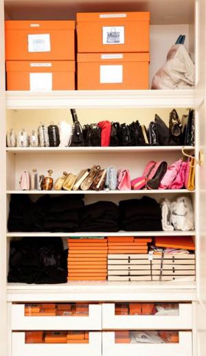 organized closet Handbags Storage, Closets Organic, Hermes Boxes ...