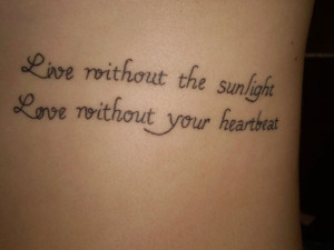 25 Warm Love Quote Tattoos