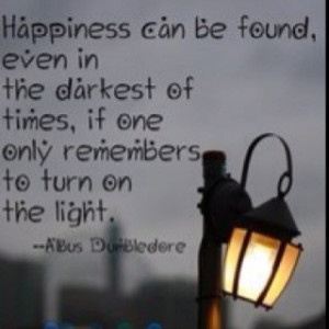 thought for tonight... I can always count on Dumbledore to help.