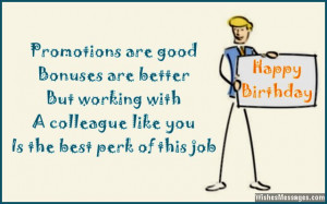 Birthday card wish for colleagues and co-workers
