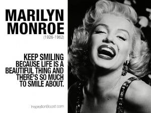marilyn monroe smile quotes quotes about smile the life quotes smile