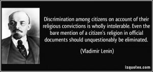 Discrimination among citizens on account of their religious ...