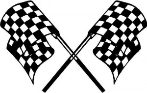 Checkered Flag Decal Sticker 19 picture
