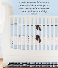 ... reason for a nursery Wall Decal Beatles Song Lyrics Golden Slumbers