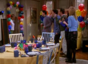 Friends Tv Show Quotes Birthday Surprise birthday party.