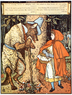 Walter Crane Little Red Riding Hood 1875 Graphic