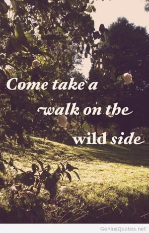 Wild side quote forest photo