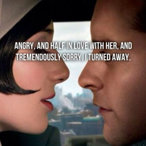 ... away. The Great Gatsby by F. Scott Fitzgerald. {Nick and Jordan