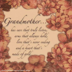 Grandmother .....has ears that truly listen
