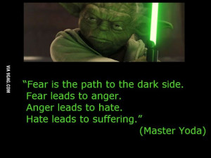 yoda quotes pictures | 9GAG - Master Yoda about fear