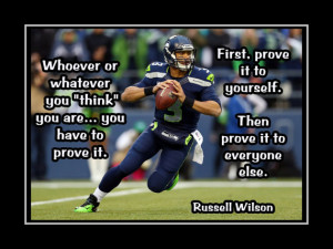 Russell Wilson Seattle Seahawks Photo Quote Poster Wall Art Print 8x10 ...