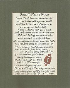 FOOTBALL-Prayers-GOAL-Skill-TEAM-Sports-TOUCHDOWN-Goal-KICK-verses ...
