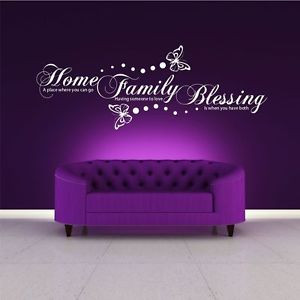 FAMILY-HOME-BLESSING-WALL-ART-WALL-QUOTE-STICKER-DECAL-MURAL-STENCIL ...