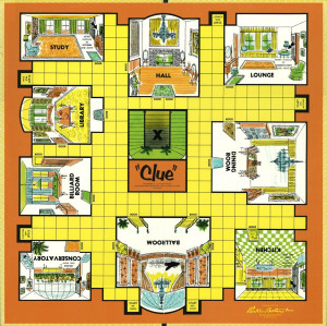Clue game board template Forbidden