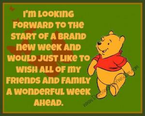 Brand new week.