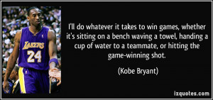 ll do whatever it takes to win games, whether it's sitting on a ...