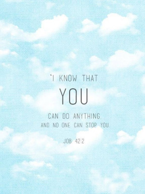 Job 42:2 bible quotes