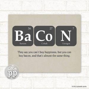 ... , Bacon, Funny Quote, Teacher Art, Science, Nerd, Geekery, Instant