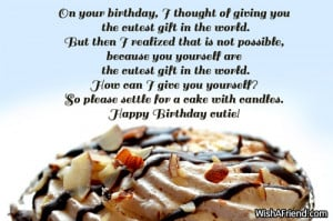 on your birthday i thought of giving you the cutest gift in the world ...