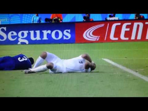 Luis Suarez takes a bite out of his compet