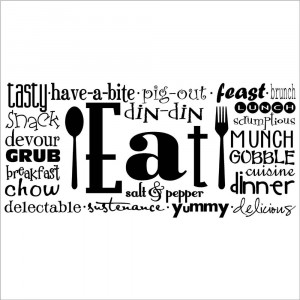 Eat (Phrases) wall saying vinyl lettering art decal quote sticker home ...