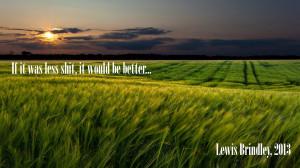 Lewis Brindley Young Lewis' opinion on farmin' sim