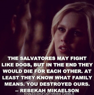 Rebekah Mikaelson quote