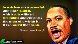 Nonviolence Is A Powerful Quote by Martin Luther King @ Quotespick.com