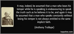 More Anthony Trollope Quotes