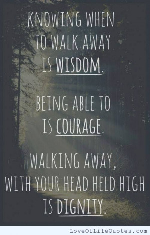 Wisdom, Courage, and Dignity