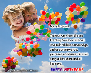 ... wishes for cousin sister – Happy Birthday Cousin Quotes, Messages