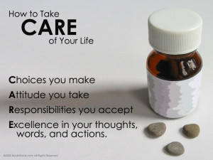Motivational Wallpaper on Life : How to take care of your life