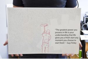 "... fresh start any moment you choose to start fresh."" – Guy Finley"