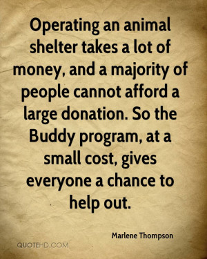 ... Lot Of Money, And A Majority Of People Cannot Afford A Large Donation