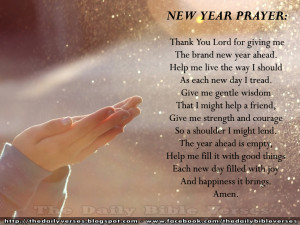 new year prayer thank you lord for giving me the brand new year ahead ...