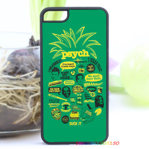 psych pineapple quote fashion cover case for iphone 4 4s 5 5s 5c for 6 ...