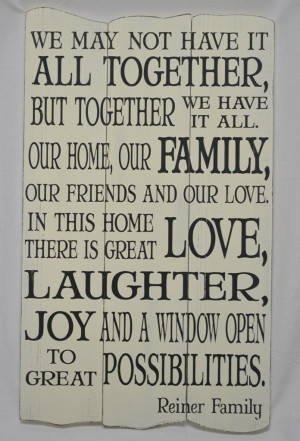 Family Quote - Custom Subway Style Panel Sign - Shabby Chic, Rustic ...