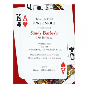 Poker Night – Texas Hold 'Em Party Invitation by thepapershoppe