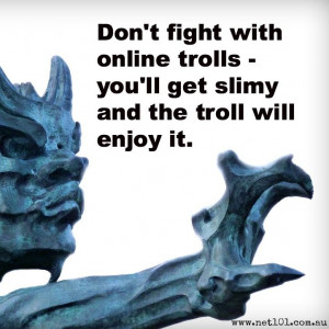 Online trolls. Social media #quotes