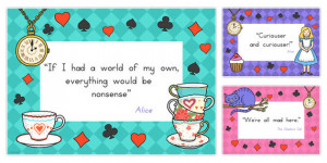 Alice in Wonderland Quotes Display Posters - australia, alice ...