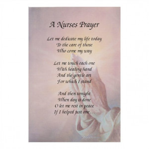 NURSES PRAYER - Inspirational poem for the nursing and care industry