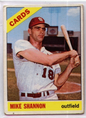 Mike Shannon Baseball Card