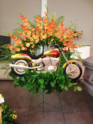 Motorcycle Tribute, funeral flowersFloral Design, Bloom Design, Design ...