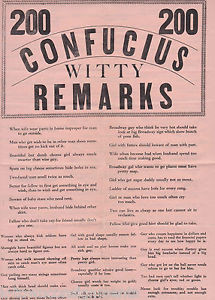 CONFUCIUS-WISE-SAYINGS-WITTY-JOKES-ANTIQUE-BLACK-AMERICANA-PULP-HUMOR ...