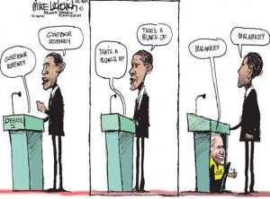 Romney Barack Obama word unemployment speech sleeping review politics ...
