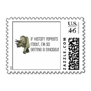 History Repeats Dinosaur Pet Stamp