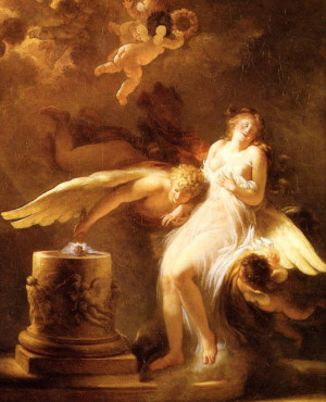 Jean-Honore Fragonard / The Sacrifice of the Rose (1780): Angel Wings ...