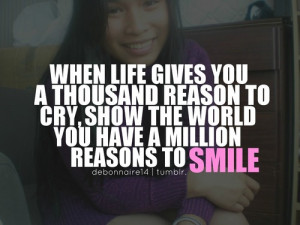 Quotes About Smiling Tumblr Just keep on smiling :)cayee