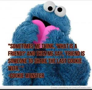 Cute. Love Cookie Monster