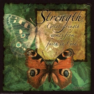 Butterfly Sentiments…Strength Art Print